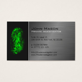 Fingerprint Private Investigator Business Card
