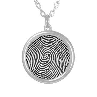 Fingerprint Round Pendant Necklace