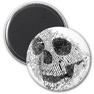 Fingerprint skull 2 inch round magnet