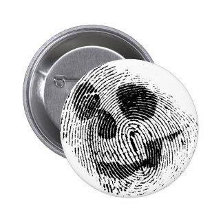 Fingerprint skull pinback buttons