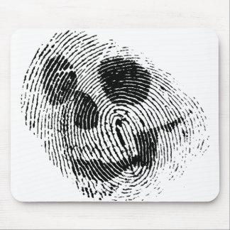 Fingerprint skull mouse pad