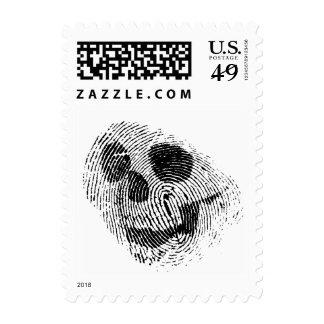 Fingerprint skull postage