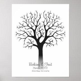 """Fingerprint Tree 11""""x14"""" Poster"""