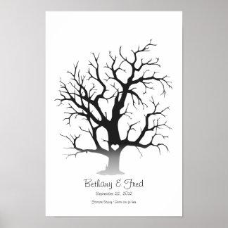 """Fingerprint Tree 11""""x16.5"""" Poster"""