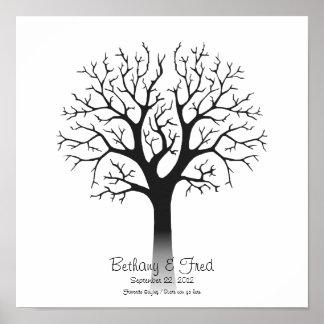 """Fingerprint Tree 12""""x12"""" Poster"""