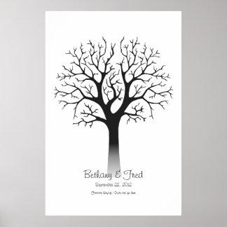 "Fingerprint Tree 24""x36"" Posters"