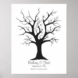 "Fingerprint Tree C - 11""x14"" Posters"
