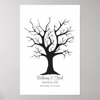 """Fingerprint Tree C - 11""""x16.5"""" Poster"""
