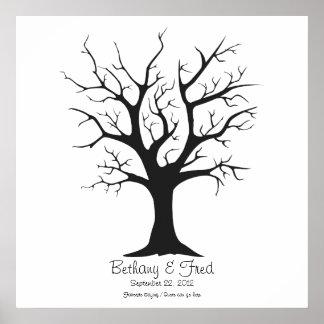 "Fingerprint Tree C - 24""x24"" Posters"