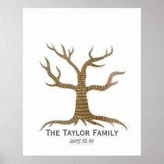 Fingerprint Tree Family Reunion Guestbook