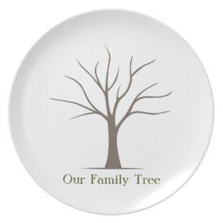 Fingerprint Tree Plate