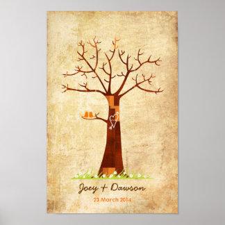 Fingerprint Tree Wedding Guestbook (Vintage)