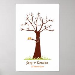 Fingerprint Tree Wedding Guestbook (White) print