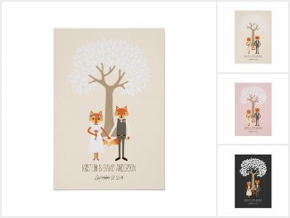 Fingerprint Trees - Wedding Guestbook Alternative