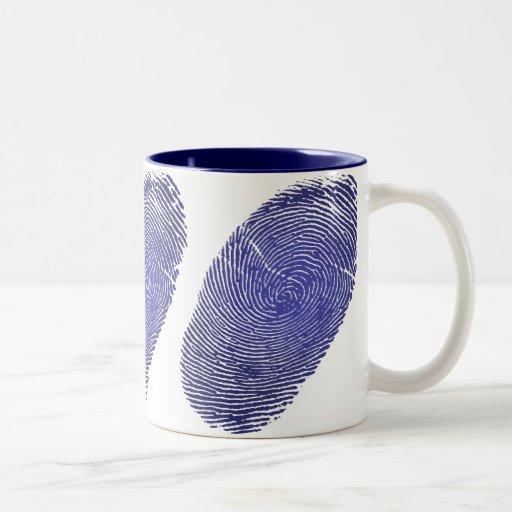Fingerprint Two-Tone Coffee Mug