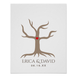 Fingerprint Wedding Guest Book Tree