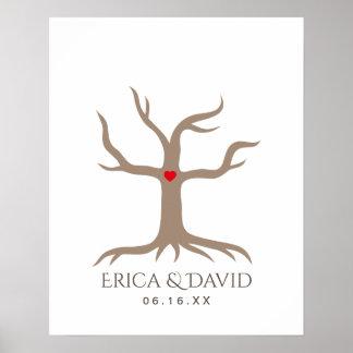 Fingerprint Wedding Guest Book Tree