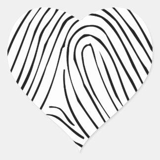 Fingerprinted Heart Sticker