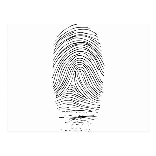 Fingerprinted Postcard