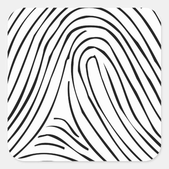 Fingerprinted Square Sticker