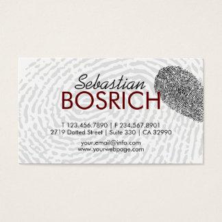 Fingerprints Modern Business Card Template