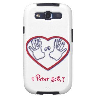 Fingerprints of God - 1 Peter 5:6-7 Samsung Galaxy SIII Cover