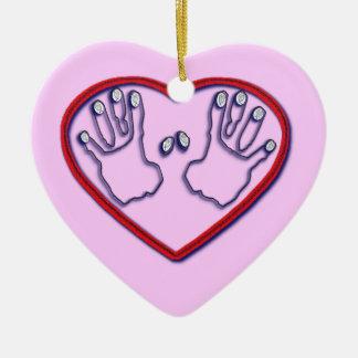Fingerprints of God - 1 Peter 5:6-7 Ceramic Ornament