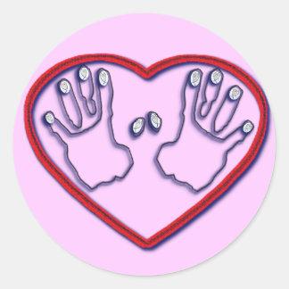 Fingerprints of God - 1 Peter 5:6-7 Classic Round Sticker