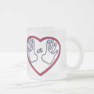 Fingerprints of God - 1 Peter 5:6-7 Frosted Glass Coffee Mug