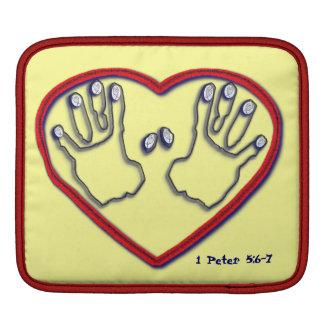 Fingerprints of God - 1 Peter 5:6-7 iPad Sleeves
