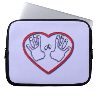 Fingerprints of God - 1 Peter 5:6-7 Laptop Sleeve