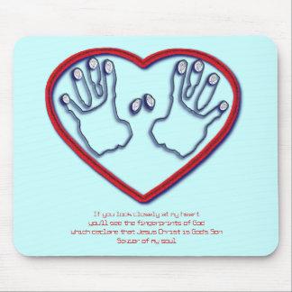 Fingerprints of God - 1 Peter 5:6-7 Mouse Pad