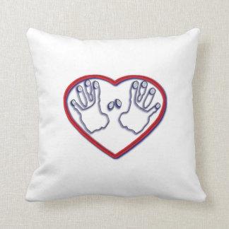Fingerprints of God - 1 Peter 5 6-7 Throw Pillow