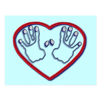 Fingerprints of God - 1 Peter 5:6-7 Postcard