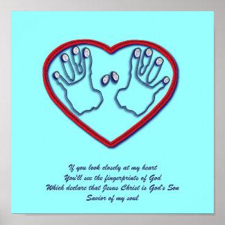 Fingerprints of God - 1 Peter 5:6-7 Poster