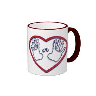 Fingerprints of God - 1 Peter 5:6-7 Ringer Mug
