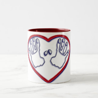 Fingerprints of God - 1 Peter 5:6-7 Two-Tone Coffee Mug