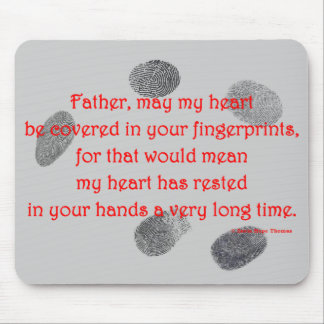 fingerprints on my heart mouse pad