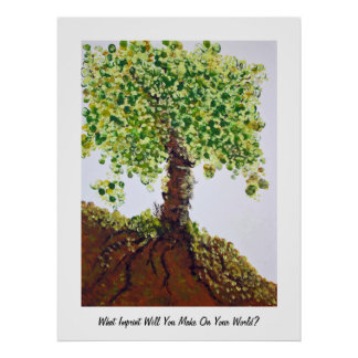 Fingerprints Tree Poster