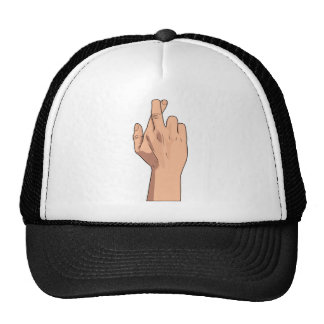 Fingers Crossed ~ Hand Signs & Gestures Mesh Hats