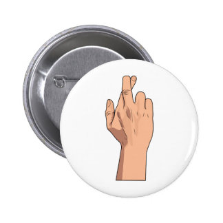 Fingers Crossed ~ Hand Signs & Gestures Pinback Button