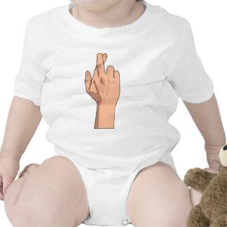 Fingers Crossed ~ Hand Signs & Gestures Romper