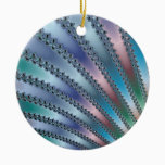 Fingers Fractal Art Ceramic Ornament