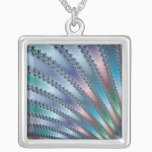 Fingers Fractal Art Silver Plated Necklace