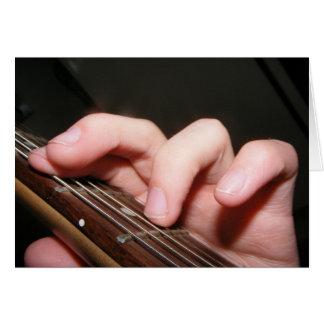 Fingers on Fretboard Card