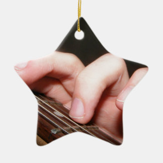 Fingers on Fretboard Ceramic Ornament