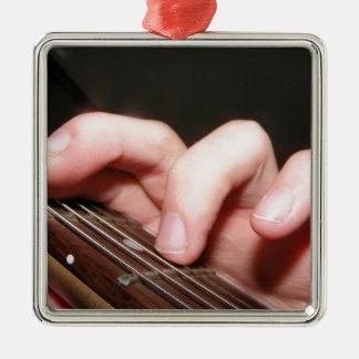 Fingers on Fretboard Metal Ornament