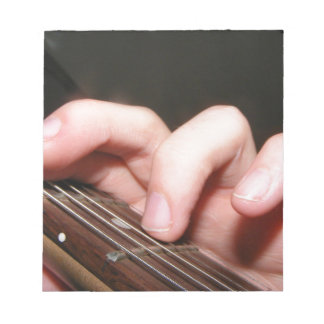 Fingers on Fretboard Notepad