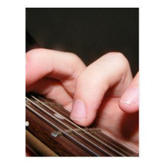 Fingers on Fretboard Postcard