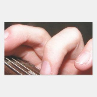 Fingers on Fretboard Rectangle Sticker